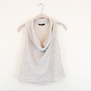 DREW | Cream Oatmeal Knit Open Back Blouse